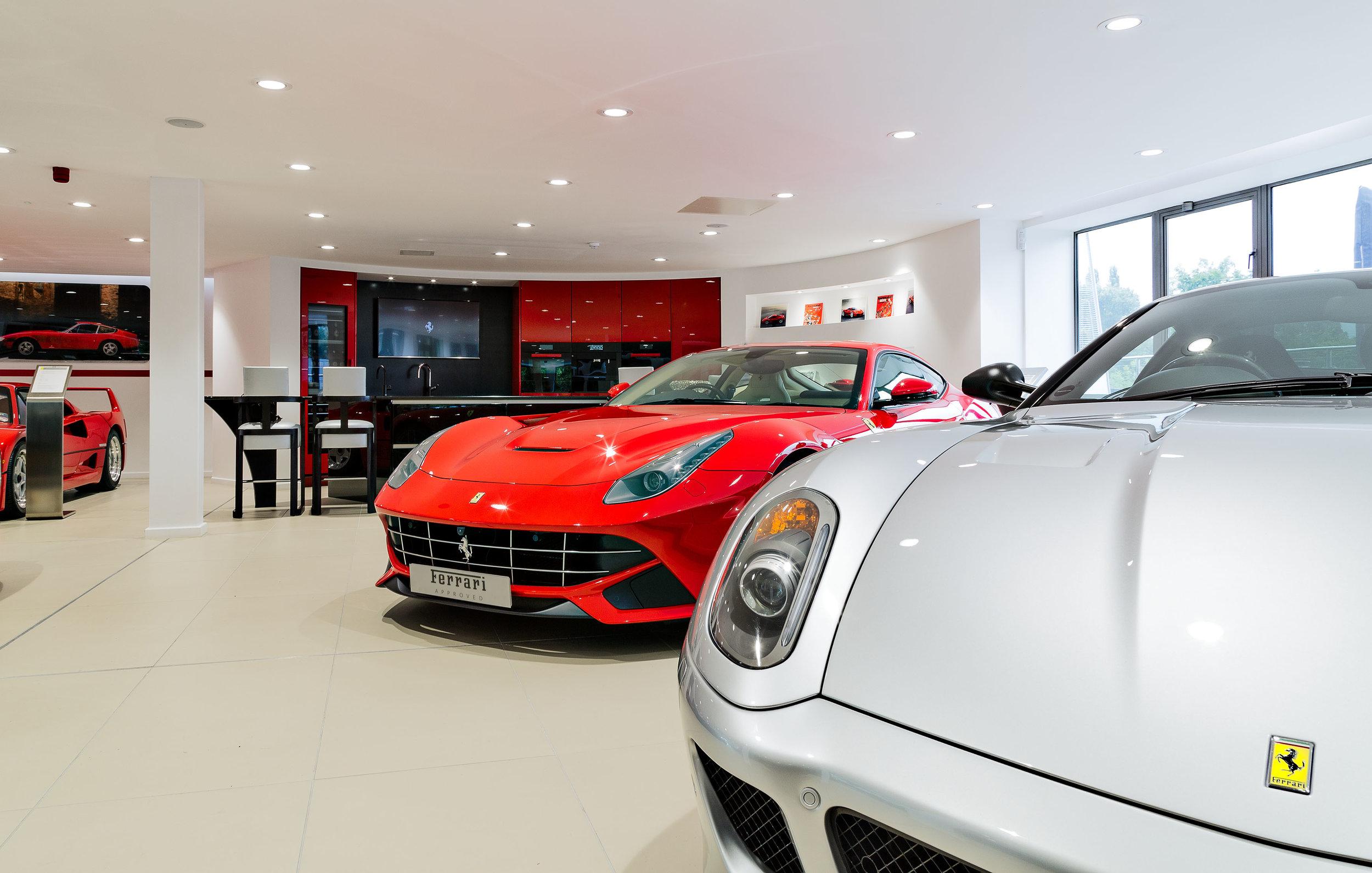 Stratstone Ferrari Wilmslow showroom