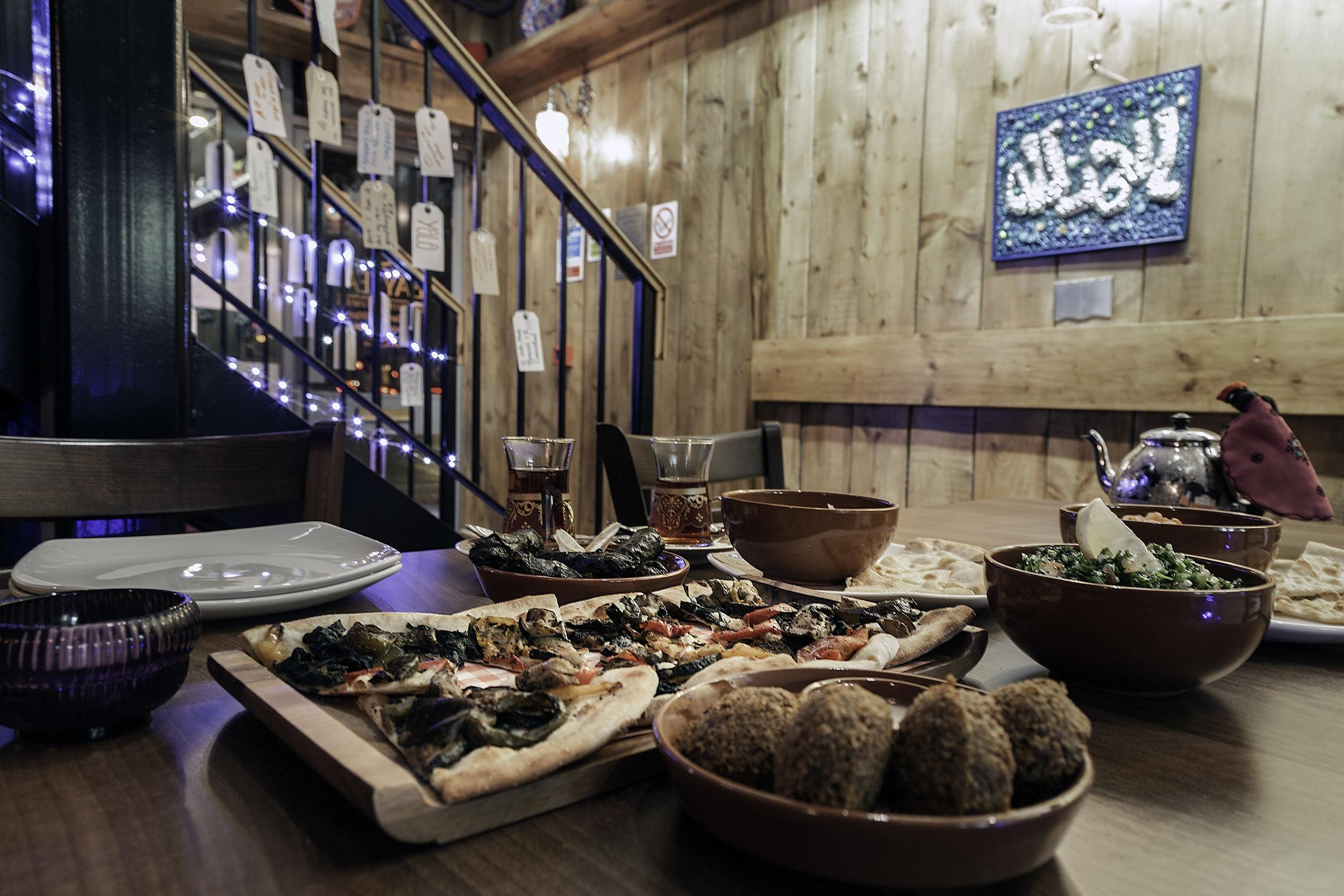 Vegan menu at Baytea, Chester