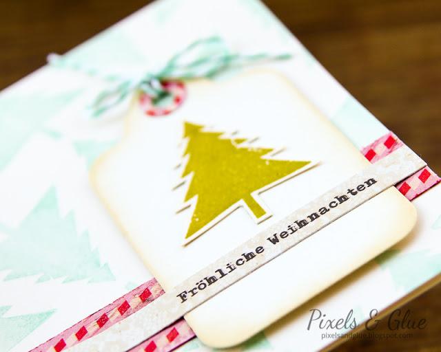 Scrap-Art-Zine Fall 2012 Pub - Christmas Tree Card Detail