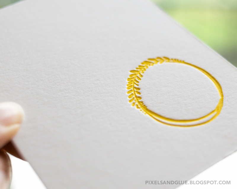 How to make beautiful handmade cards with letterpress elements by @pixnglue
