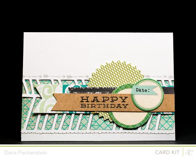 Crooked Chevron Birthday Card