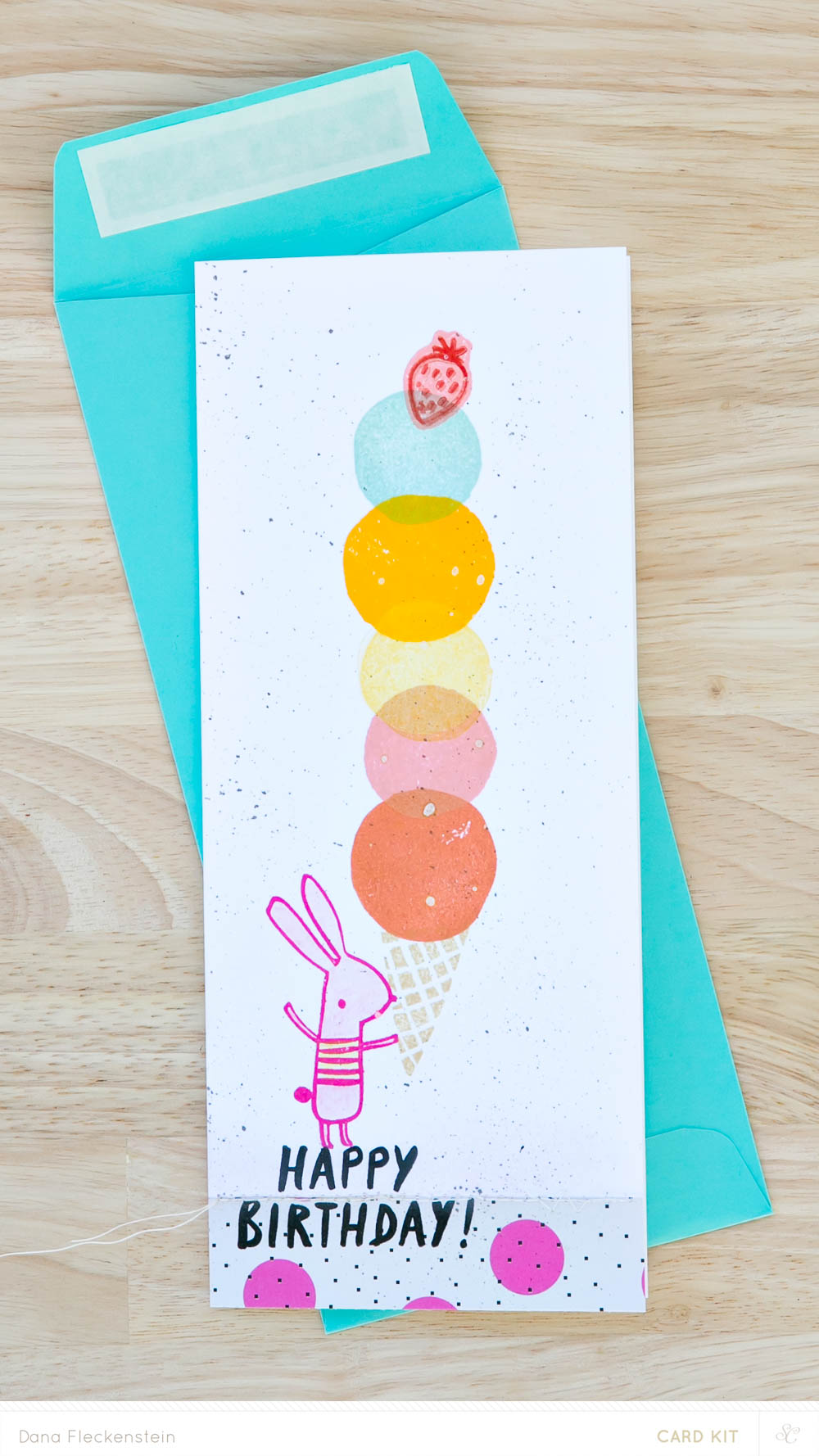 Studio Calico Galileo Card Kit | Gelato birthday card by @pixnglue