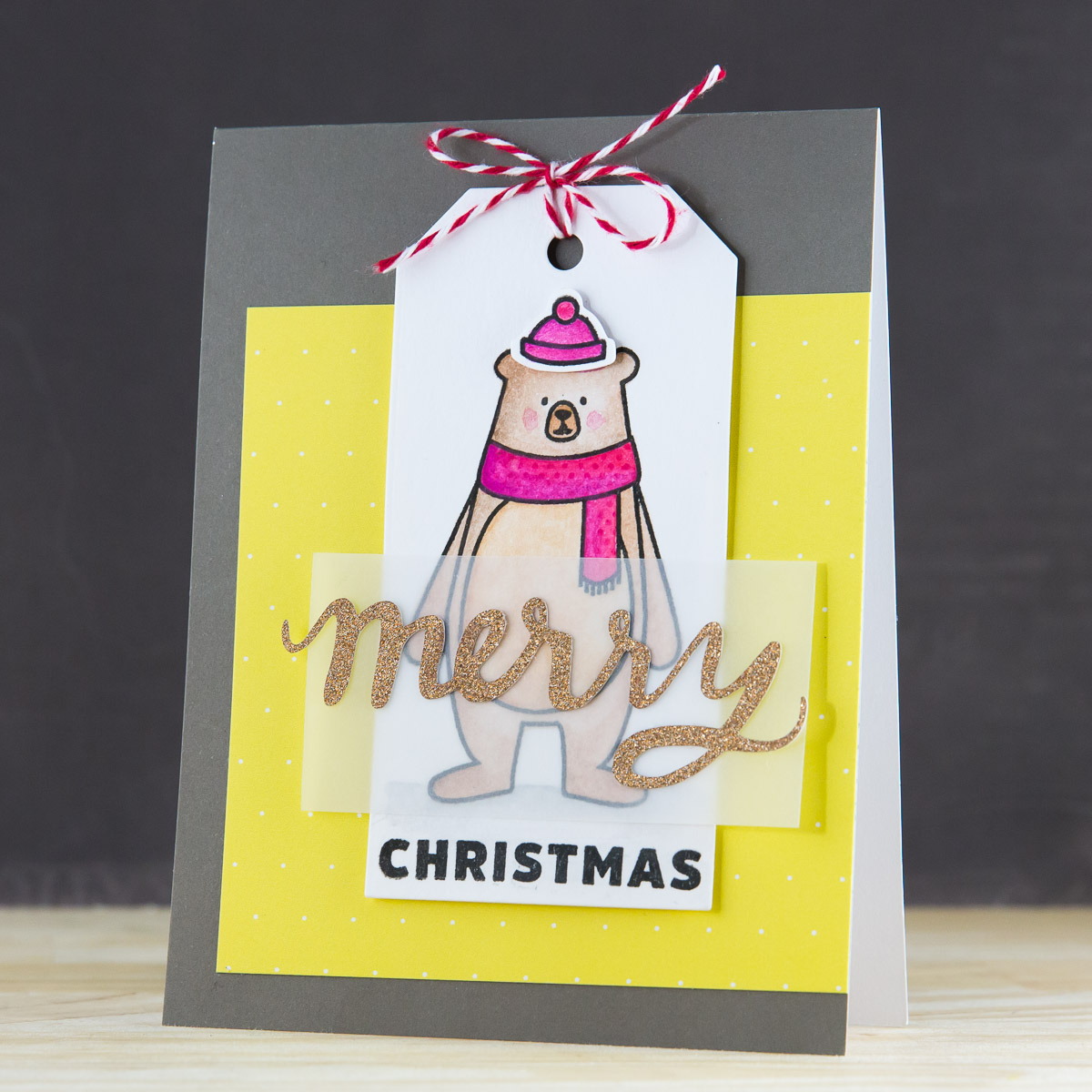 Beary Merry Christmas Card by @pixnglue