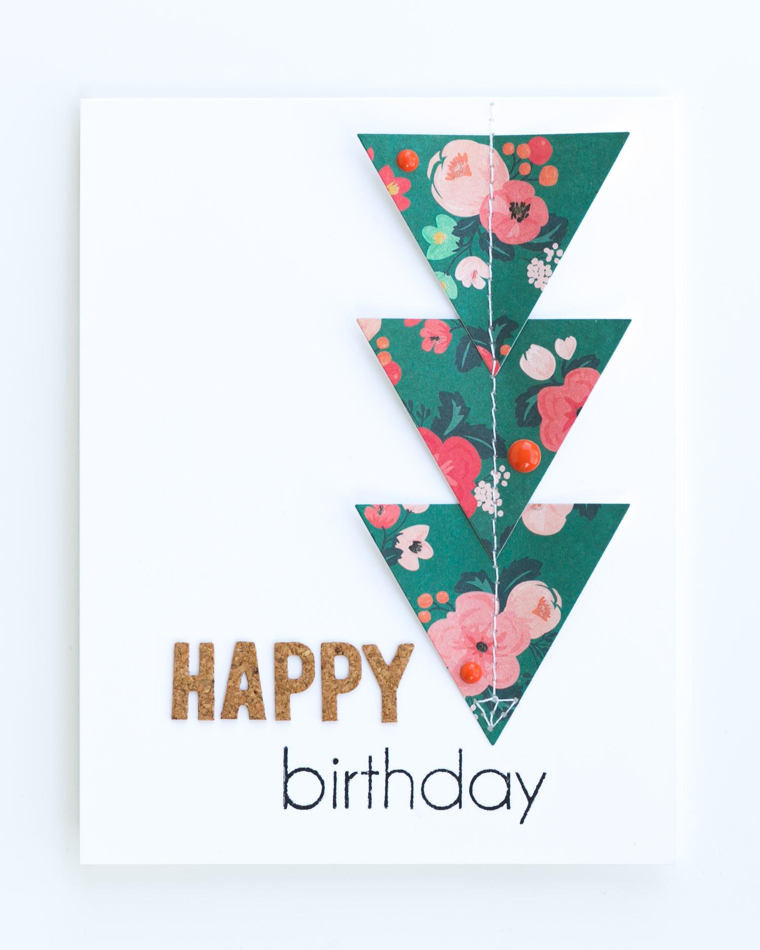 Triangle Birthday Card by @pixnglue