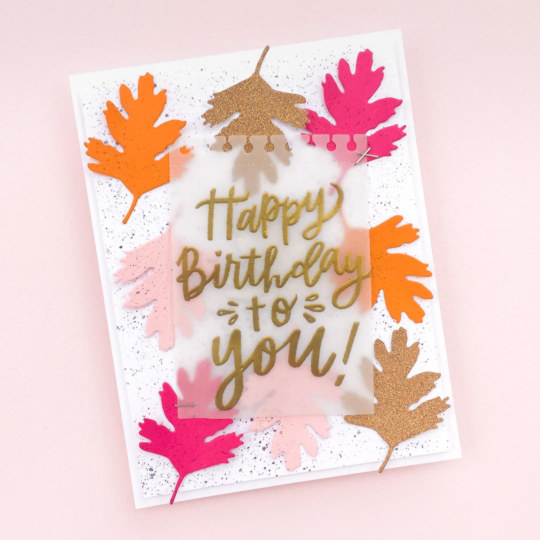 Fall Birthday Card by @pixnglue