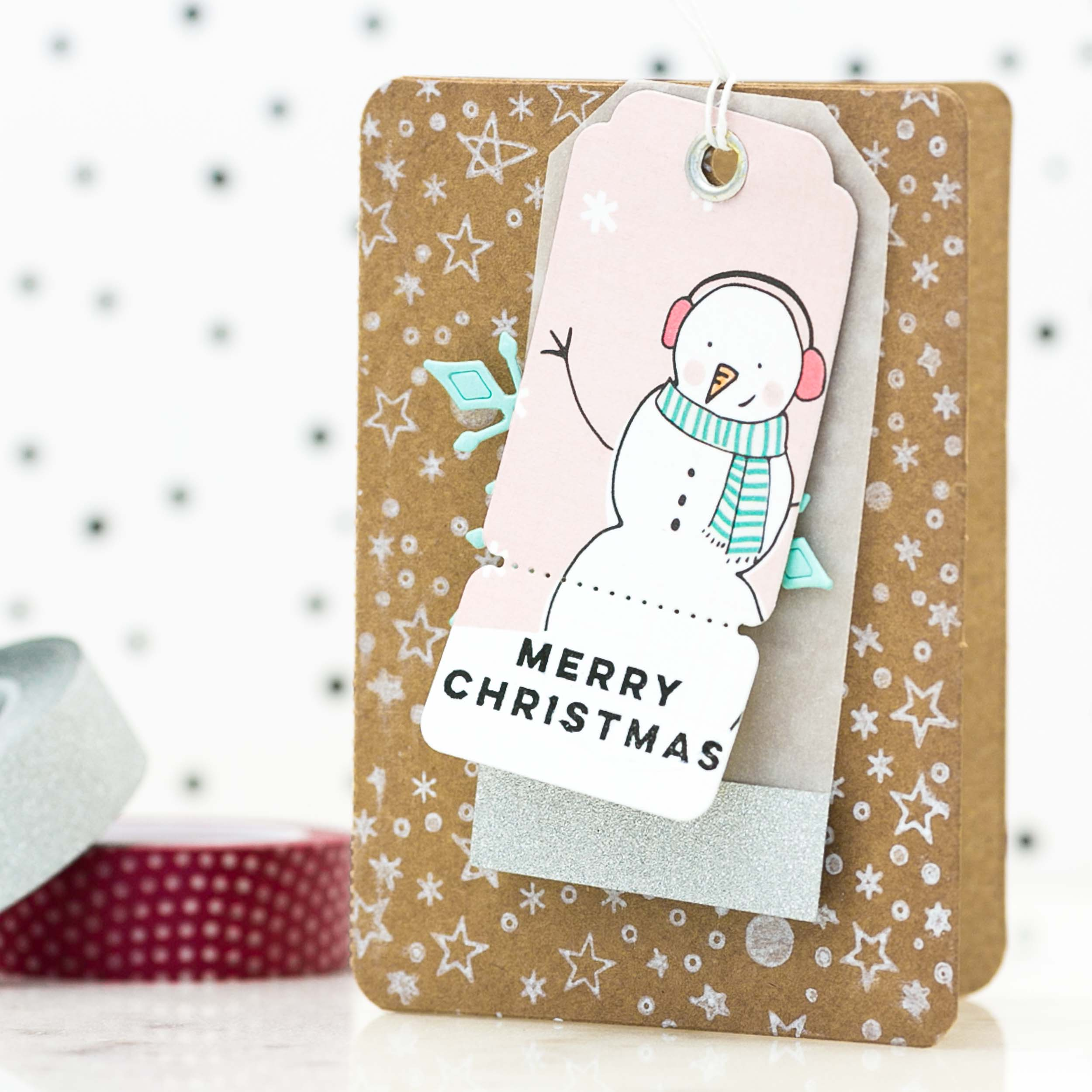 Christmas Gift Enclosure Card by @pixnglue