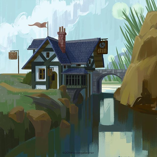 And a more finished one. It's a little snugger inside, but all the cuter. ^^ #dnd #dndart #fantasy #fantasyart #ilovefantasyart #dungeonsanddragons #dungeons #d20 #conceptart #digitalpainting #digitalart #photoshop #environment #environmentdesign #instageek #instaart #artistsoninstagram