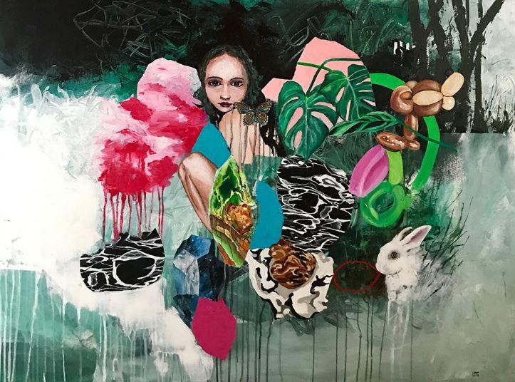 Nest#Acrylic on canvas#36 x 48 inches#$2,700