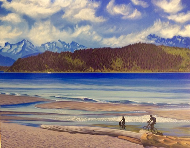 Chasing the Tide#Oil on canvas#30x40#SOLD
