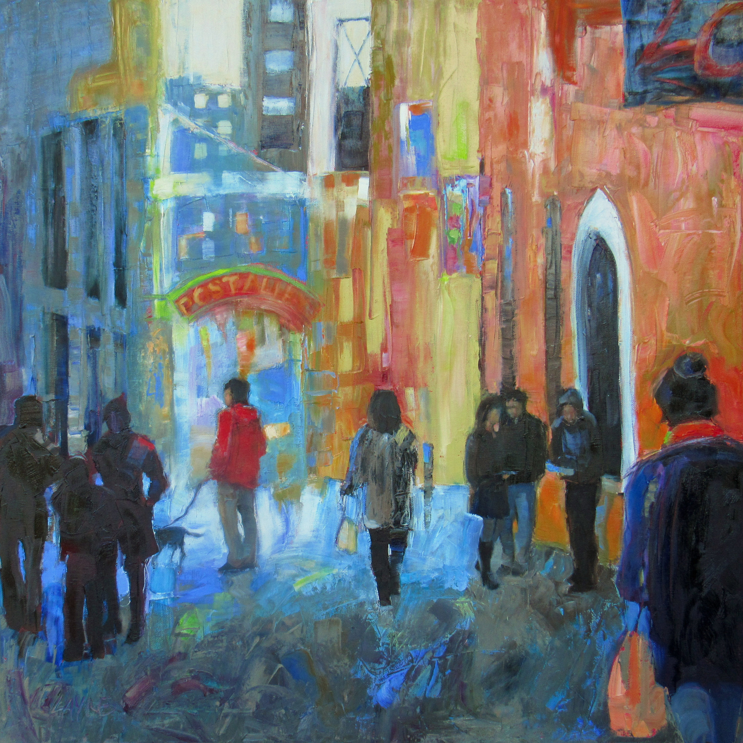 Post Alley#Oil on canvas#30x30#SOLD