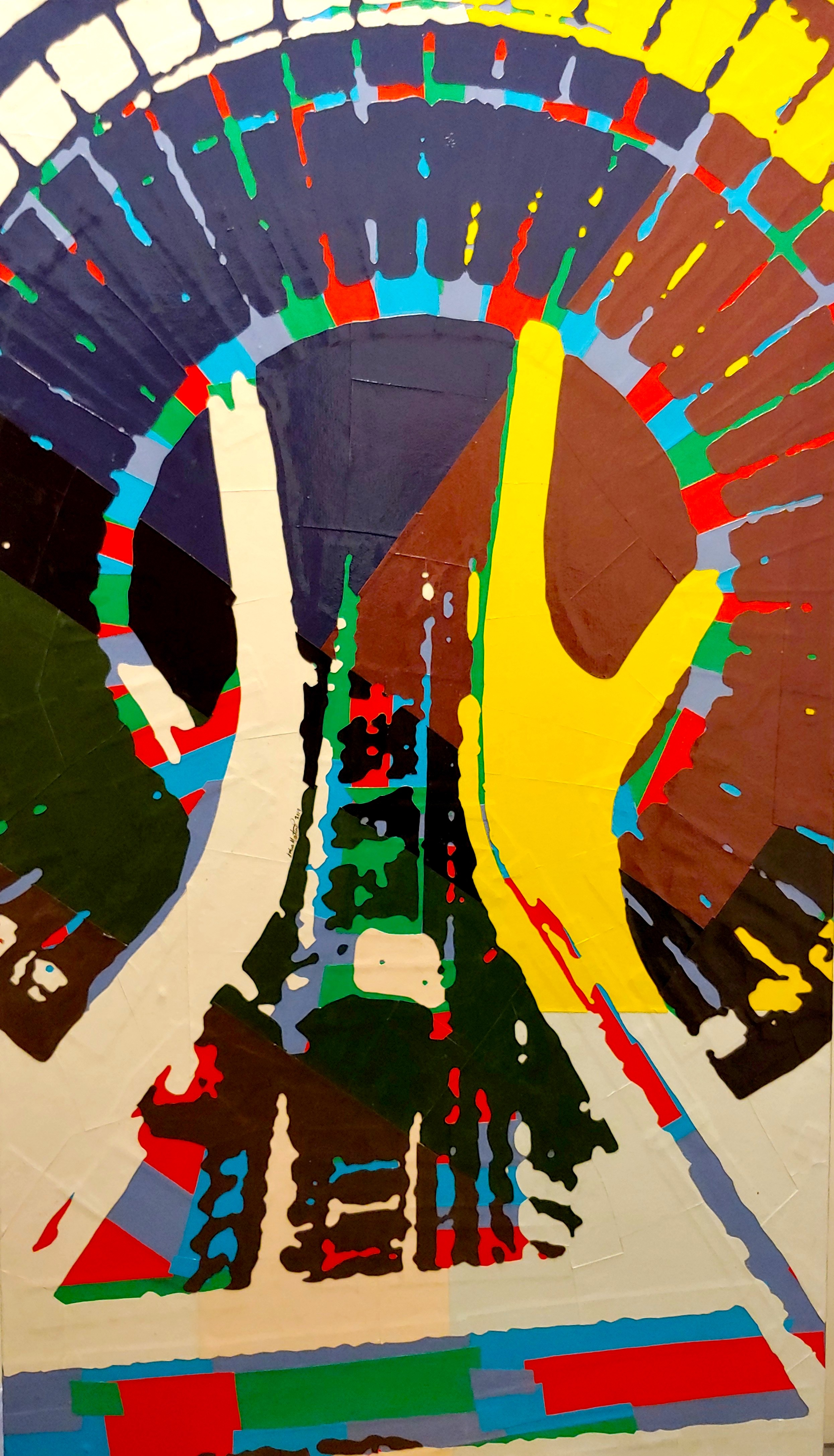 Space Needle No. 12#Paper on panel#42 x 24 inches#SOLD