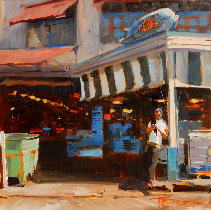 Pike Place Pig#Oil on linen#10 x 10 inches#$700