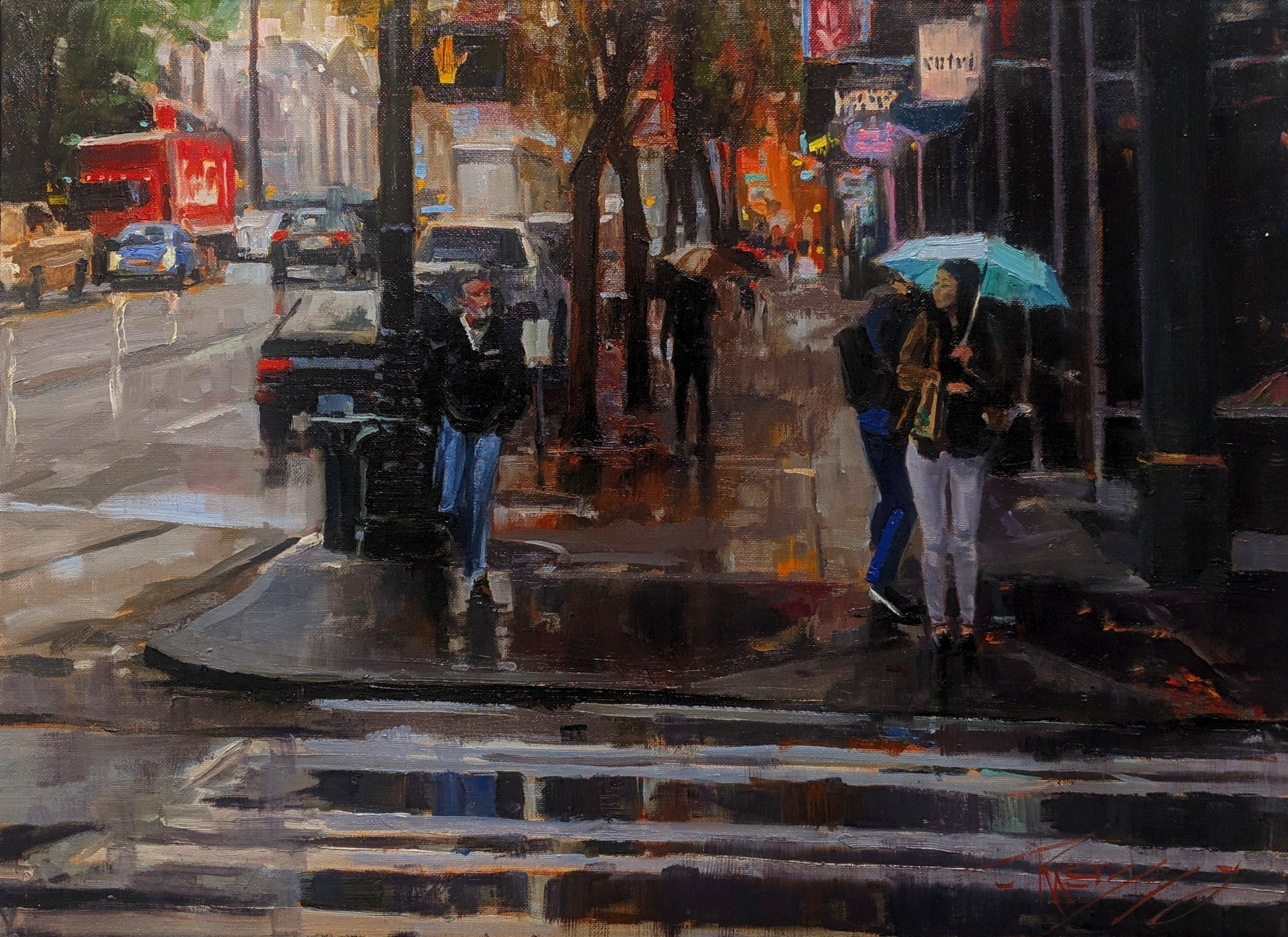 1st & Union#Oil on linen#18 x 24 inches#SOLD