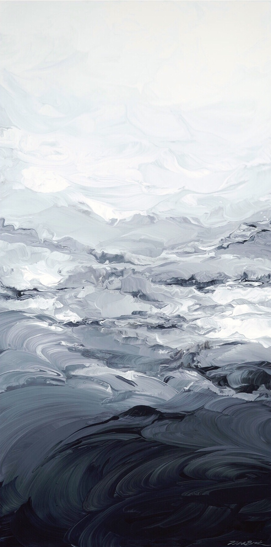Misty#Acrylic on panel#48 x 24 inches#$2,800