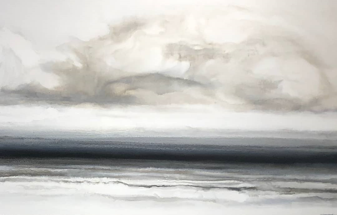 On My Way Home#Acrylic on panel#31 x 49 inches#SOLD