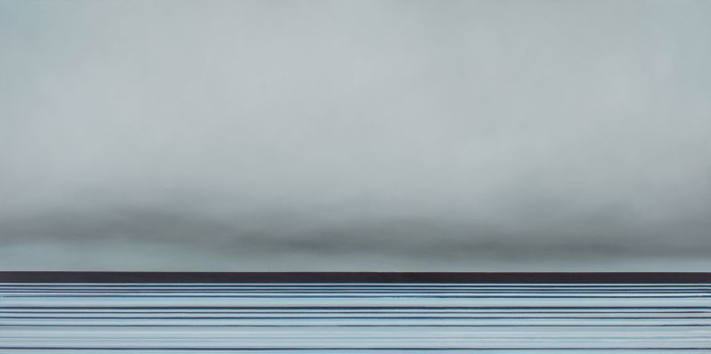 Untitled No. 365#Oil and Wax on Canvas#30 x 60 inches#$2,750