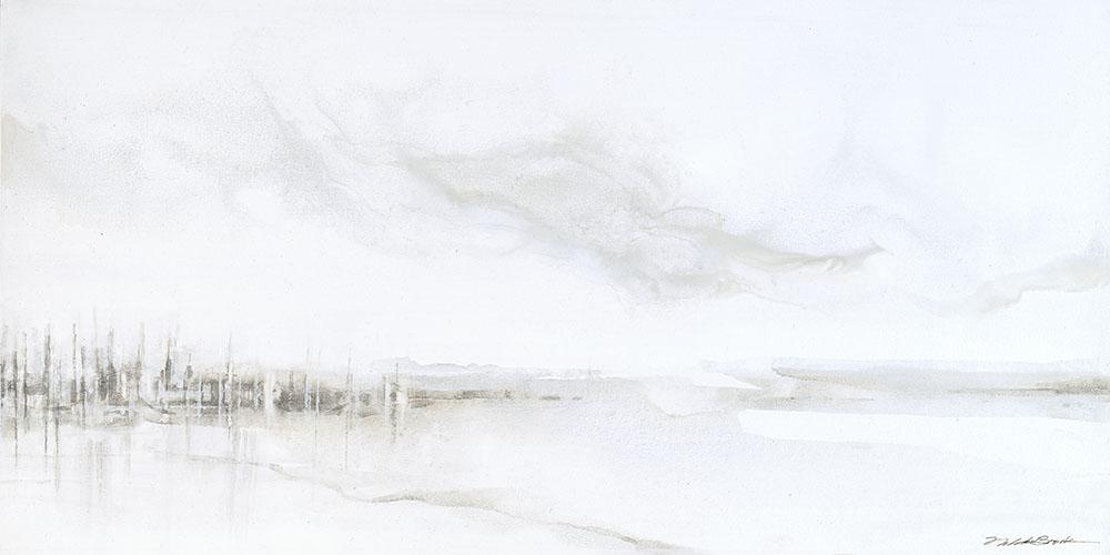 Harbor#Acrylic on panel#10 x 20 inches#$700