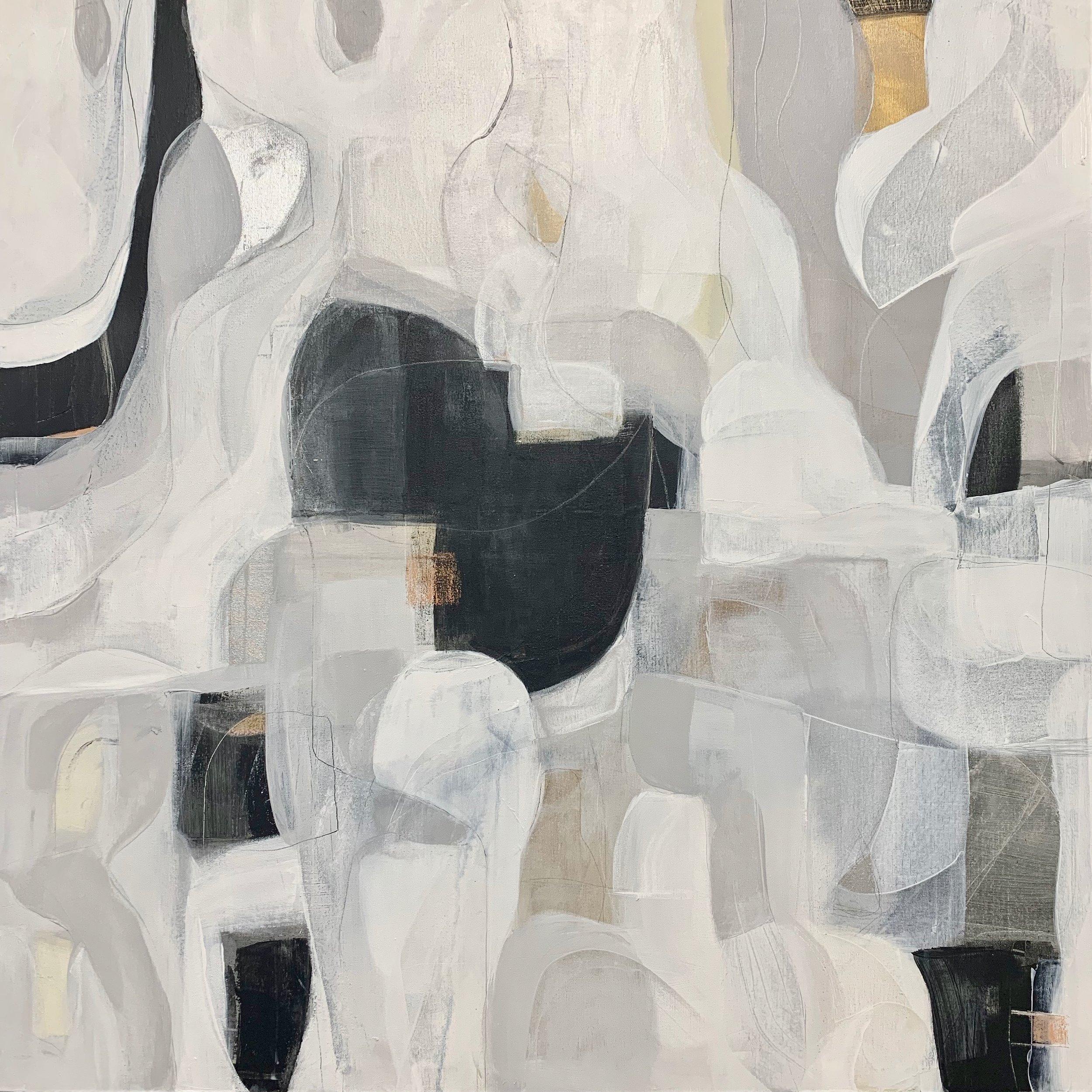 Avalon Estrella Late Night Jazz Series#Mixed Media on Canvas#36 x 36 inches#$2,150
