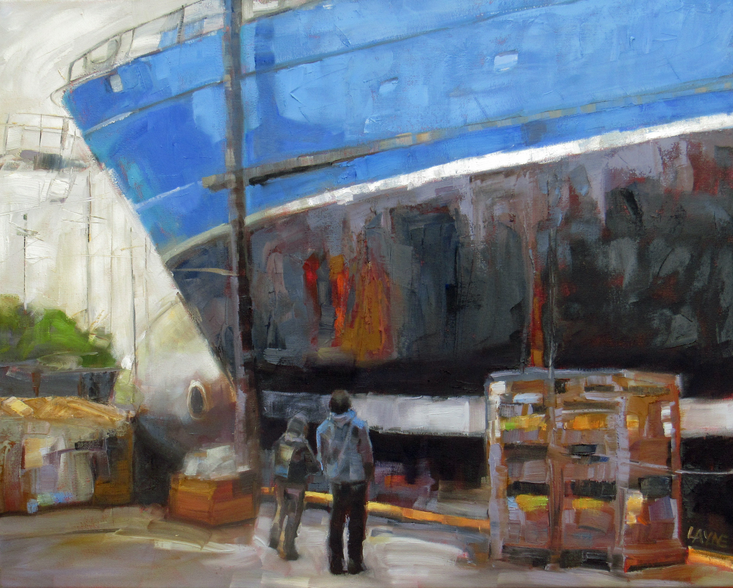 Dry Dock#Oil on Canvas#24 x 30 inches#$1,650