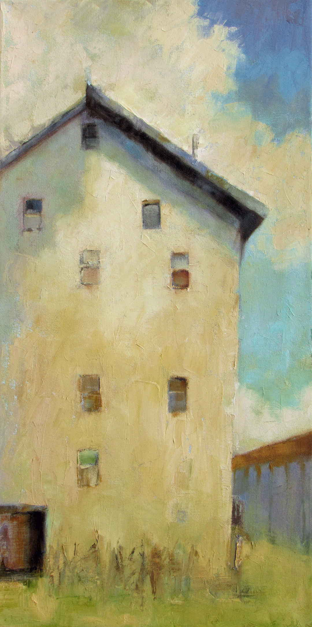 This Old House#Oil on Canvas#30 x 15 inches#$1,150