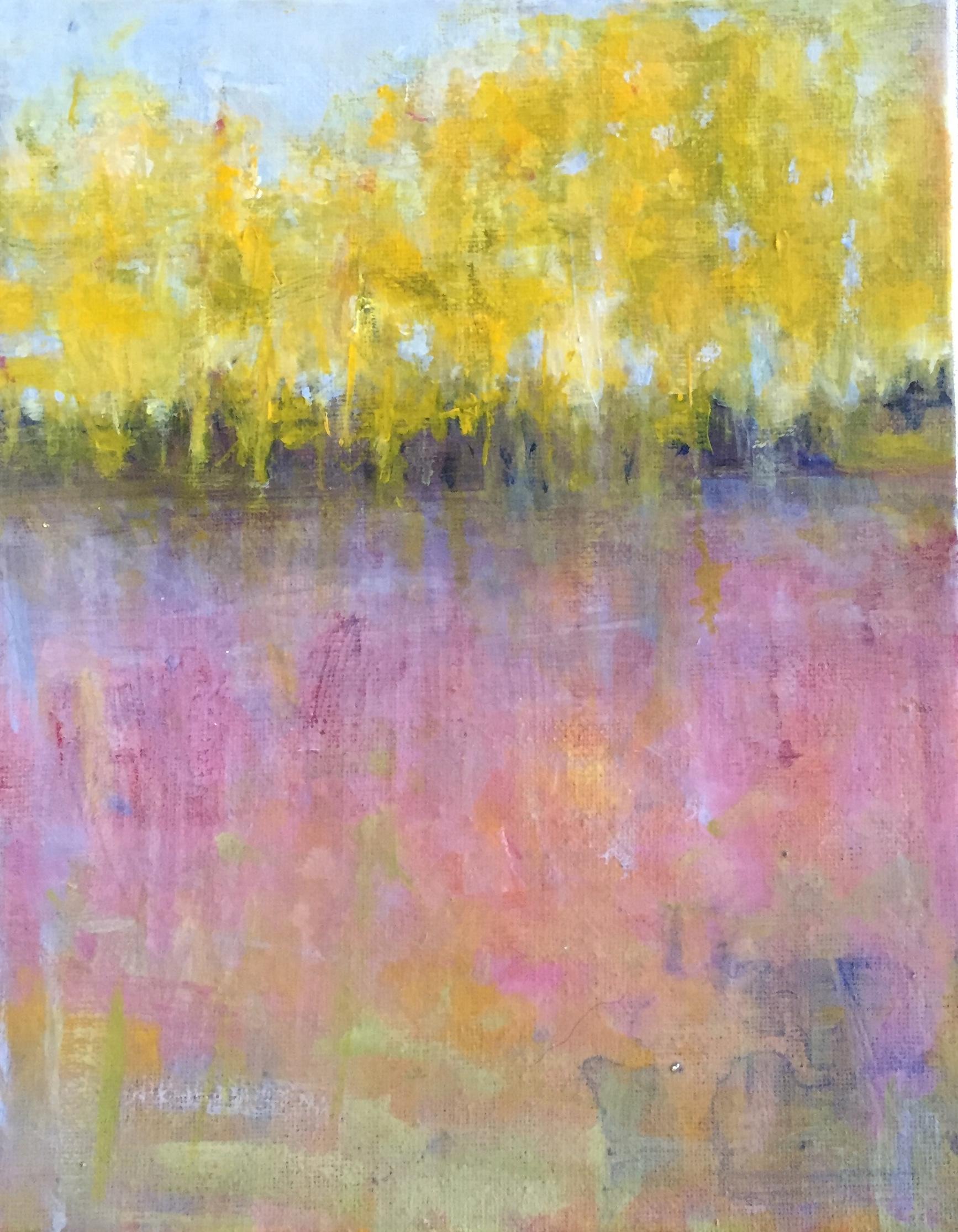 Birch Row#Acrylic on Canvas#10 x 8 Inches#$325