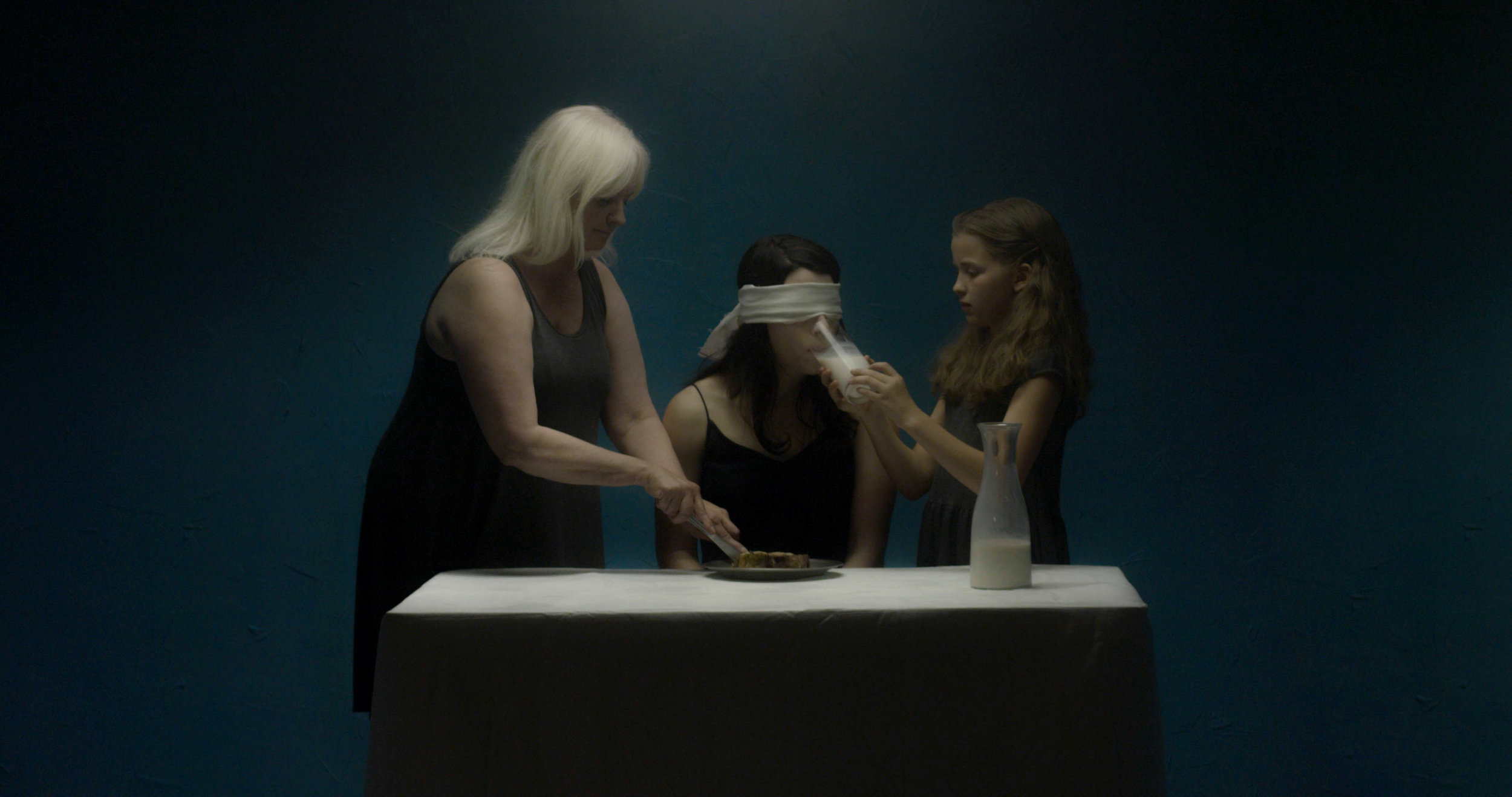 From left, Jan Waldman, Maureen Renee Hughes, and Josette Oberton in QUIETUS, written and directed by Joy Song. (Auspicious Phoenix Productions)