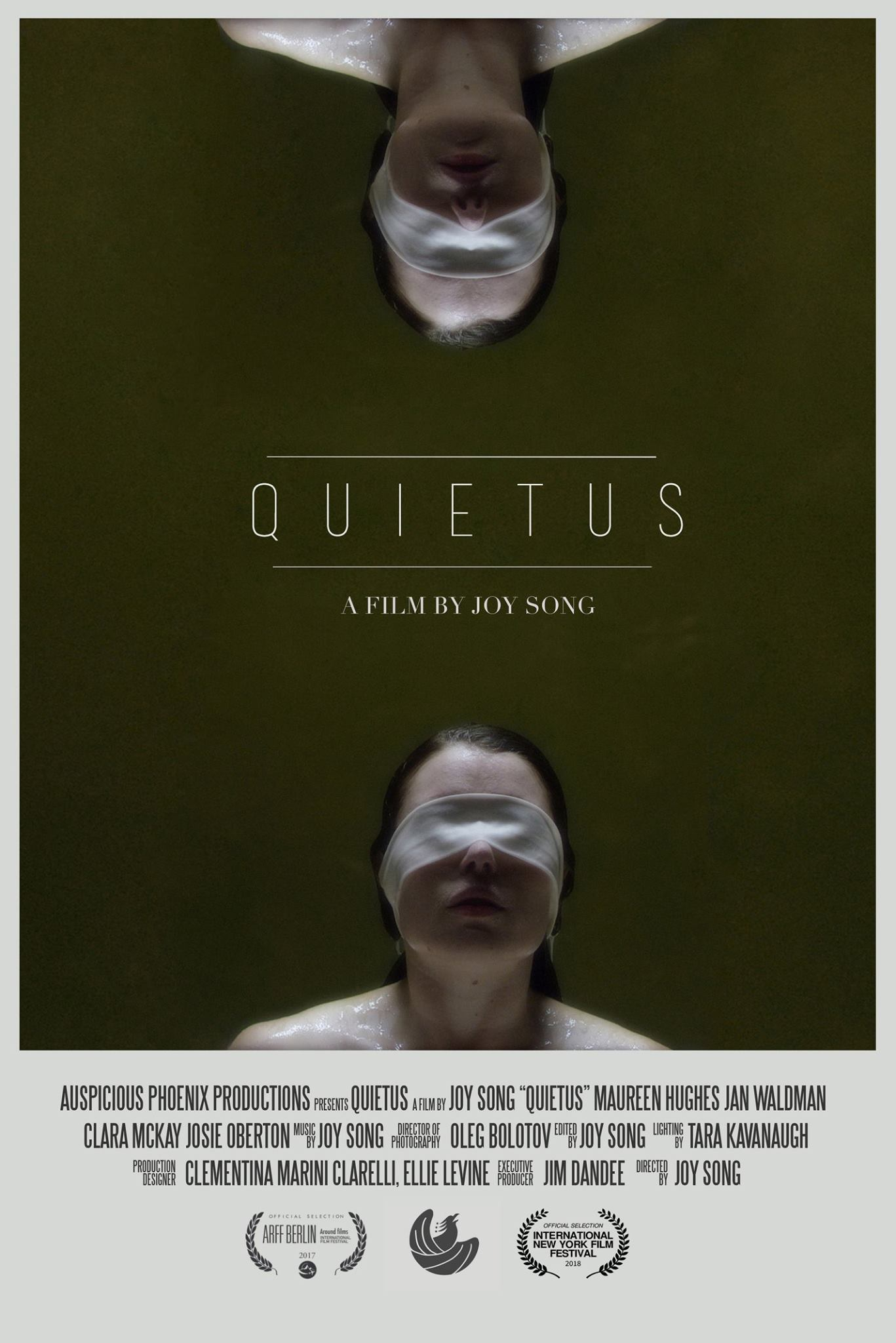 Auspicious Phoenix Productions released a new poster for QUIETUS, directed by Joy Song. (Auspicious Phoenix Productions)