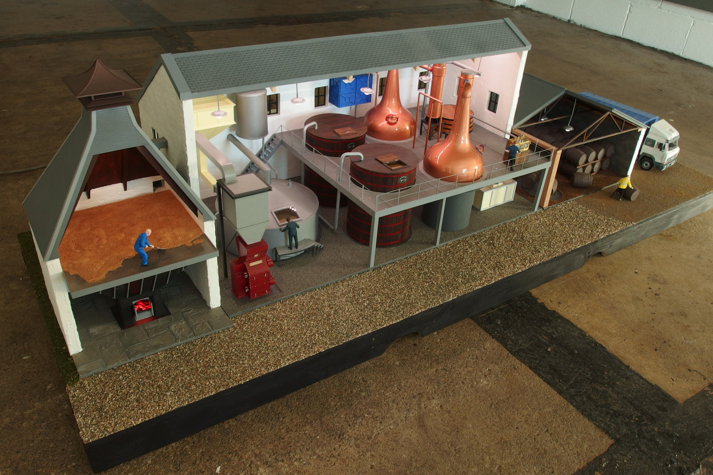 The finished model for Scotch Whisky Experience.