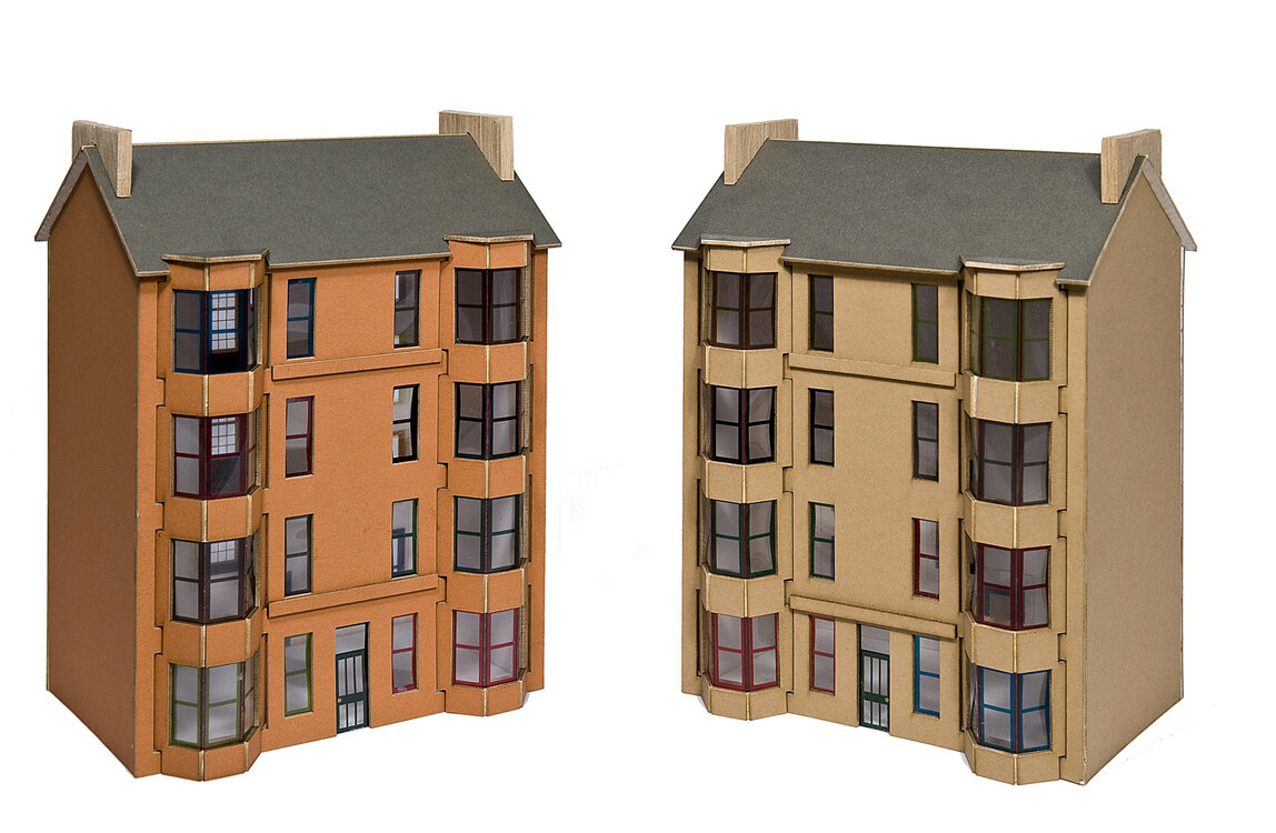 The original Scottish Tenement Model Kit, first produced in 2007.