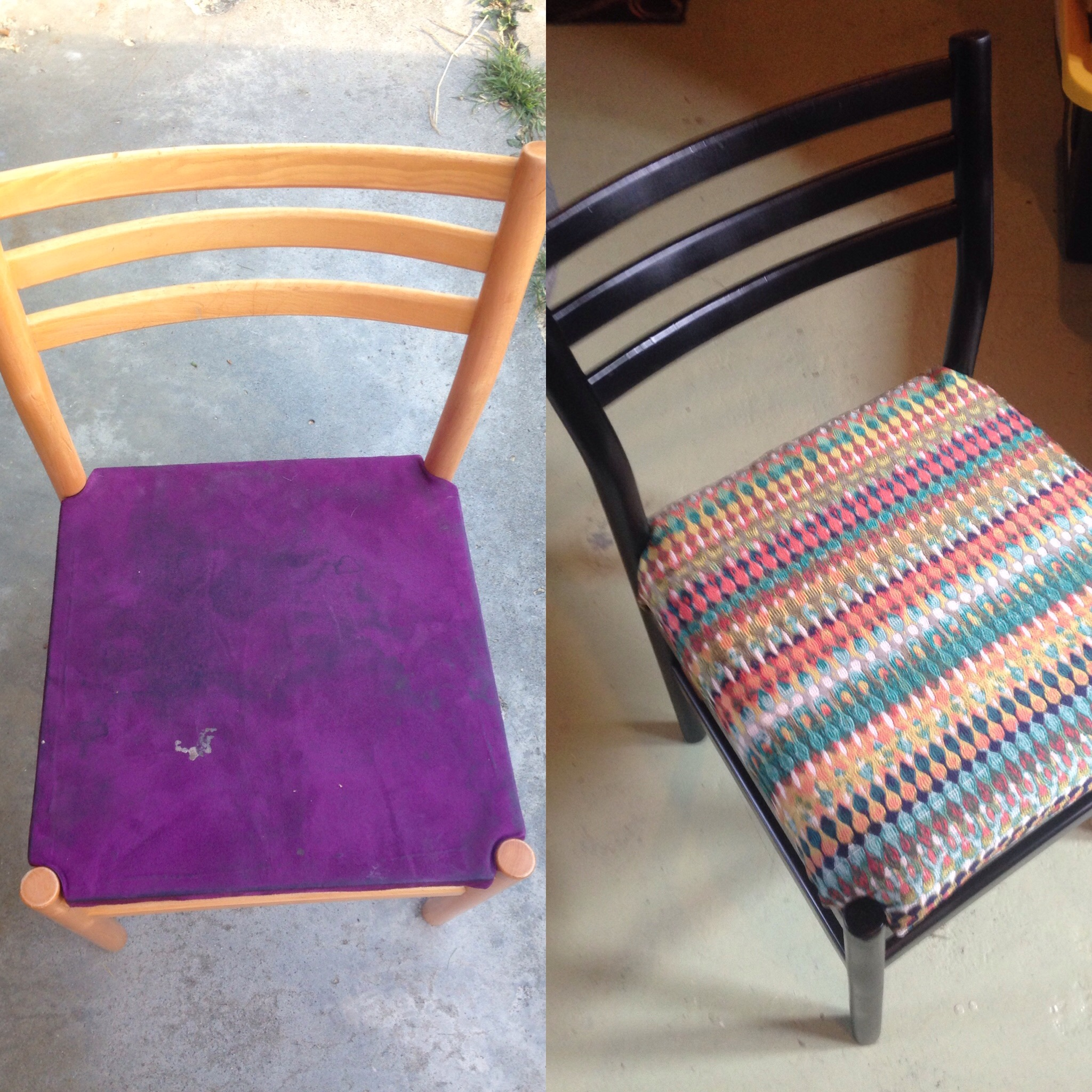Chair Makeover Before and After