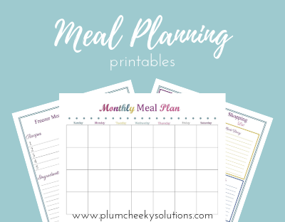 meal planning and shopping list