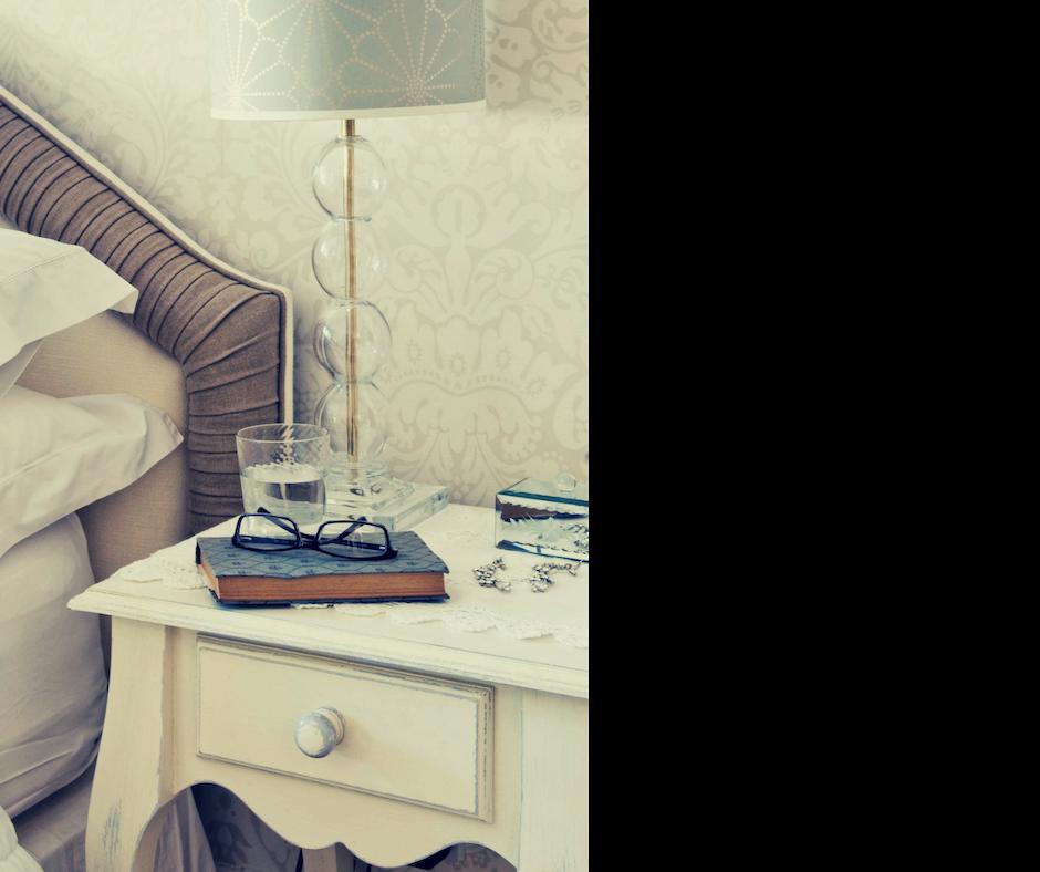 declutter your nightstand weekly