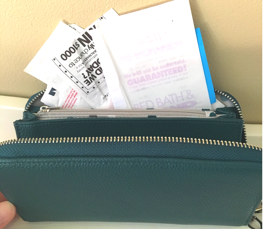 declutter wallet daily…or at least after each use