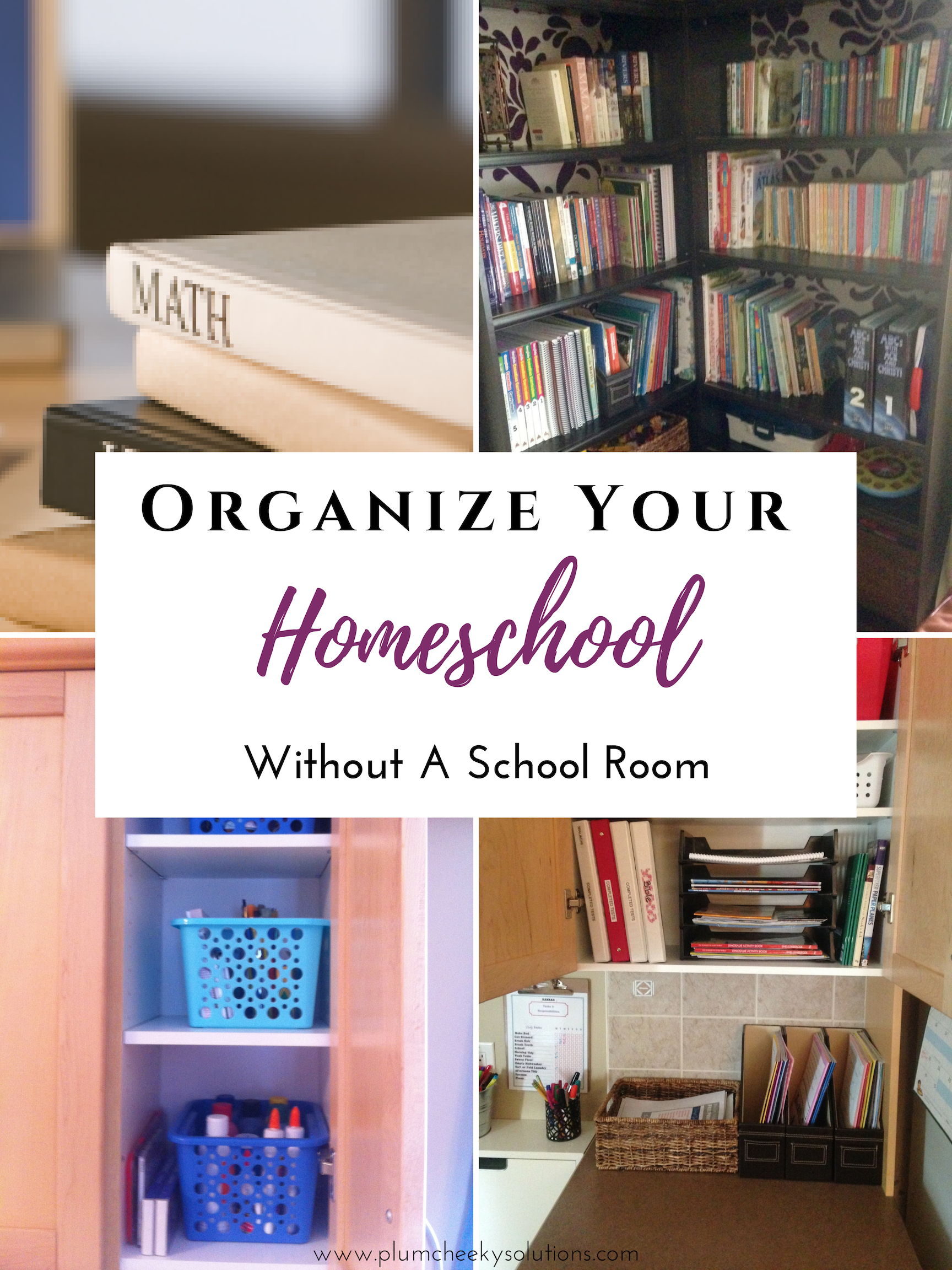 How To Organize Your Homeschool Curriculum and Supplies