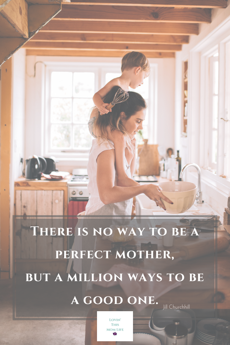 there is no way to be a perfect mom-Jill Churchill quote