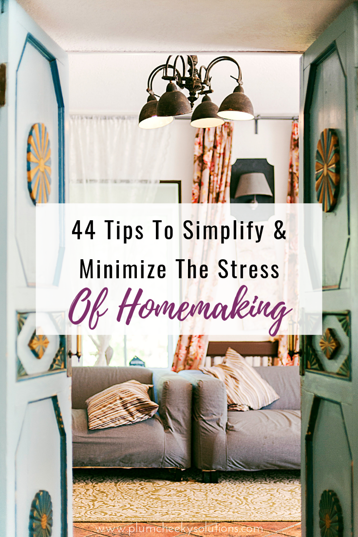 tips to simplify homemaking