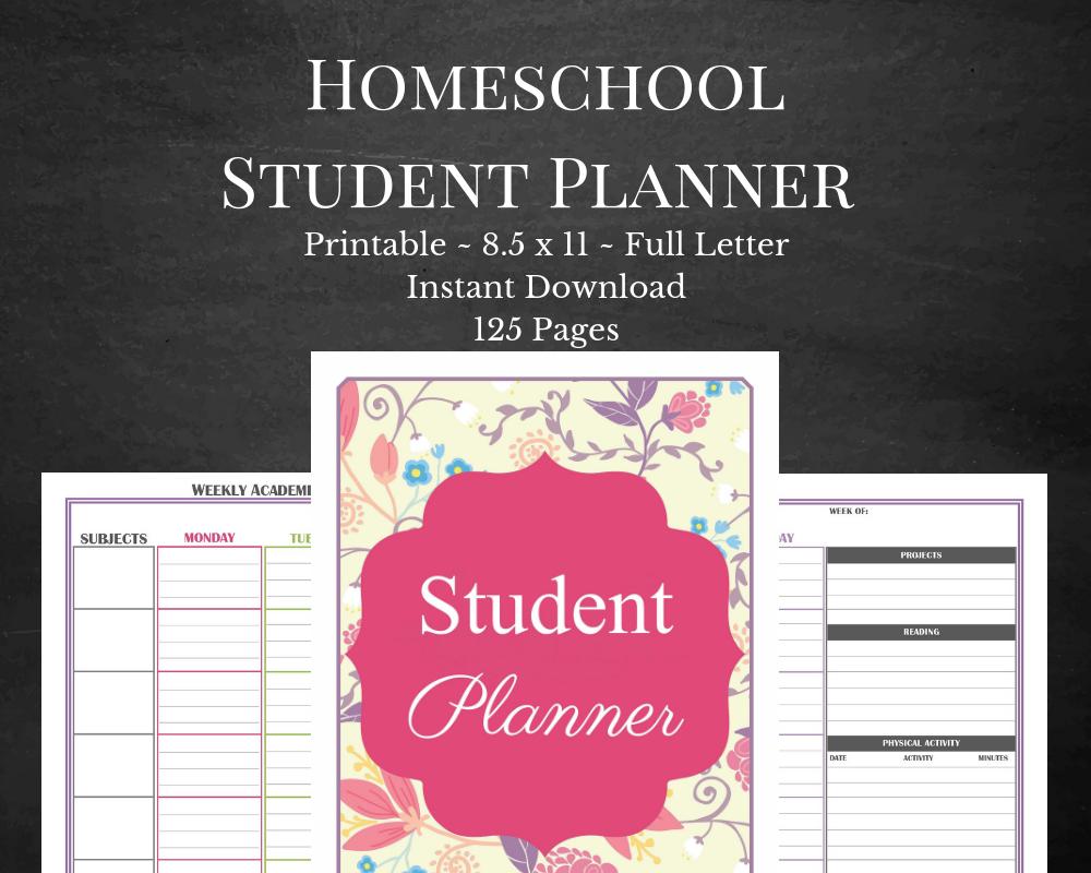 best printable homeschool student planner