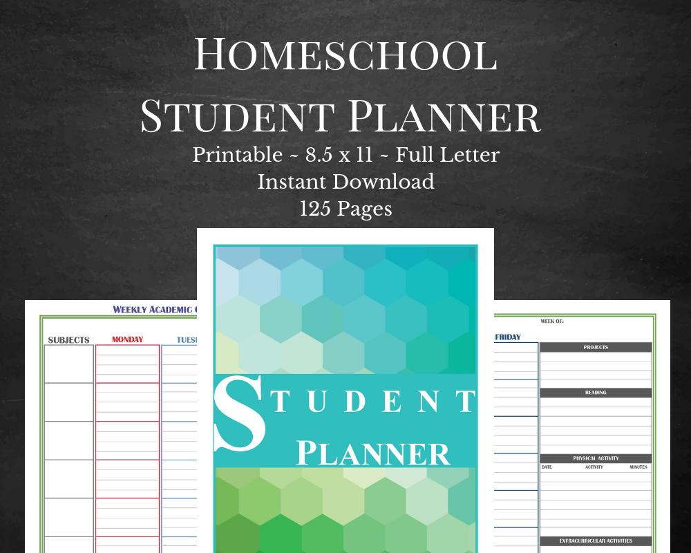 best homeschool student planner printable