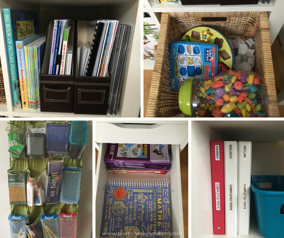 school supply organization at home