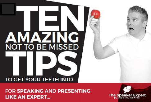 Speaker Expert Top Ten Tips