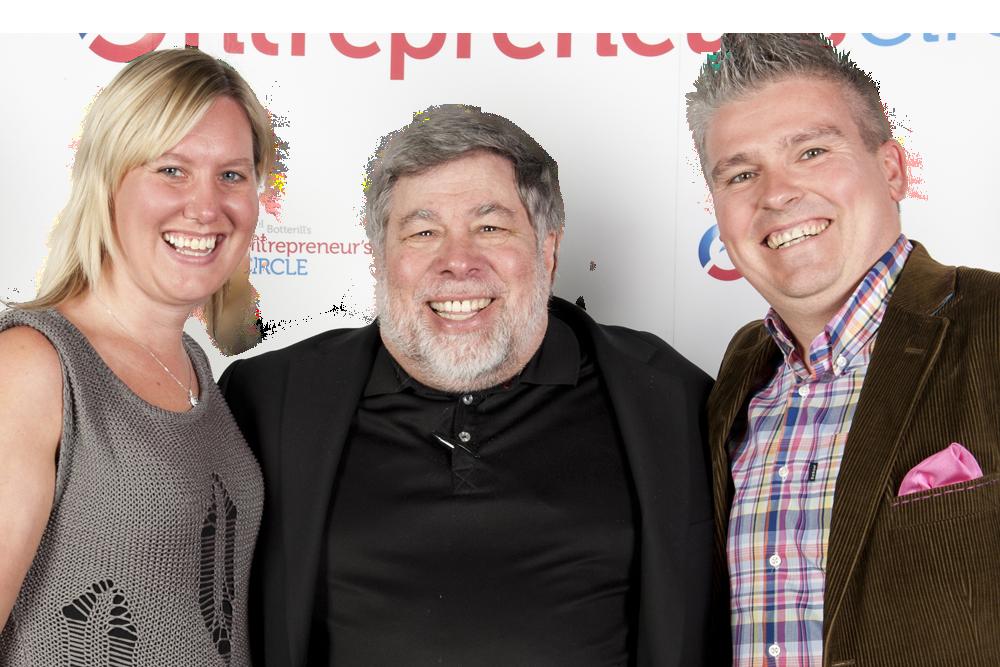David Bell &Joanna Bell meeting Apple Co-founder Steve Wozniak