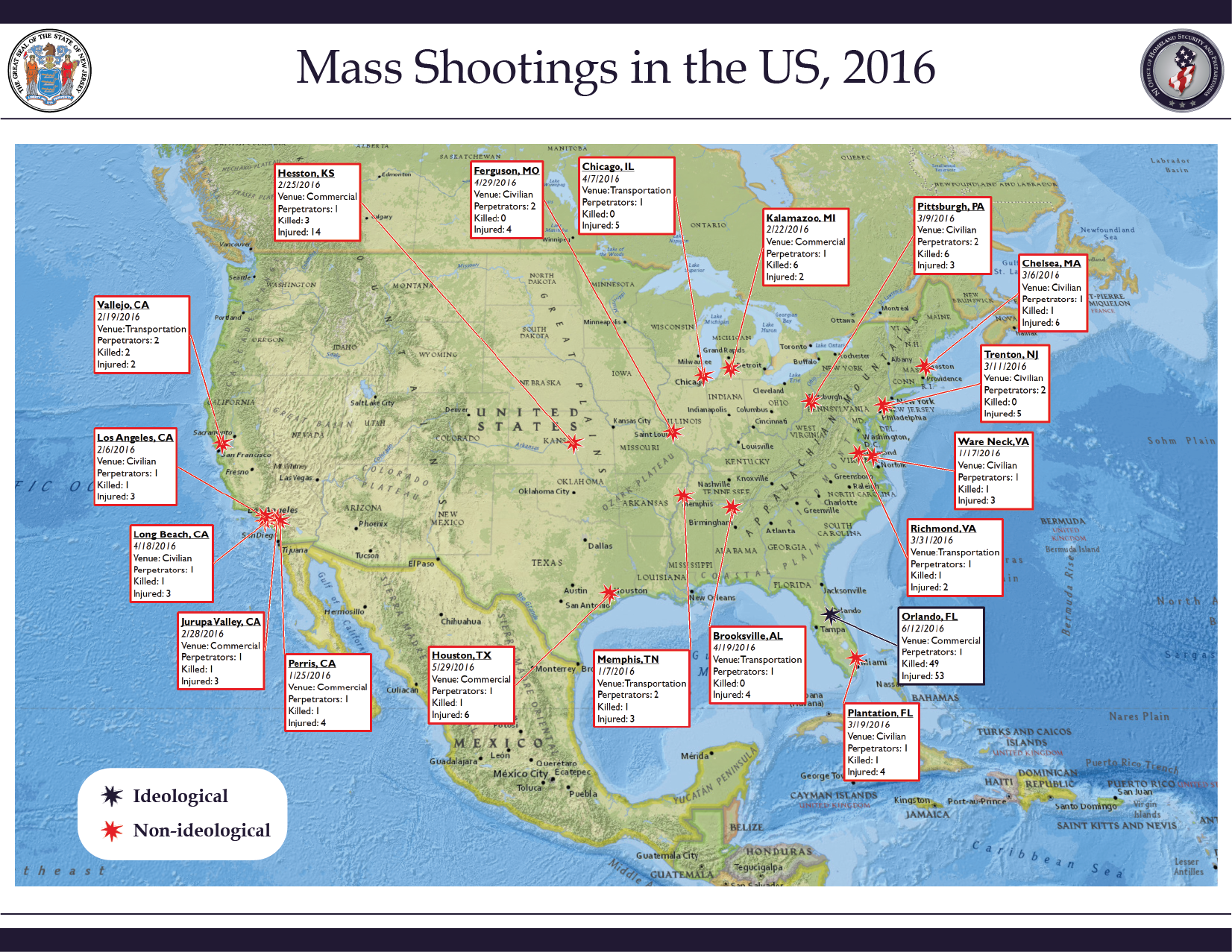 Mass Shootings in the US, 2016.png