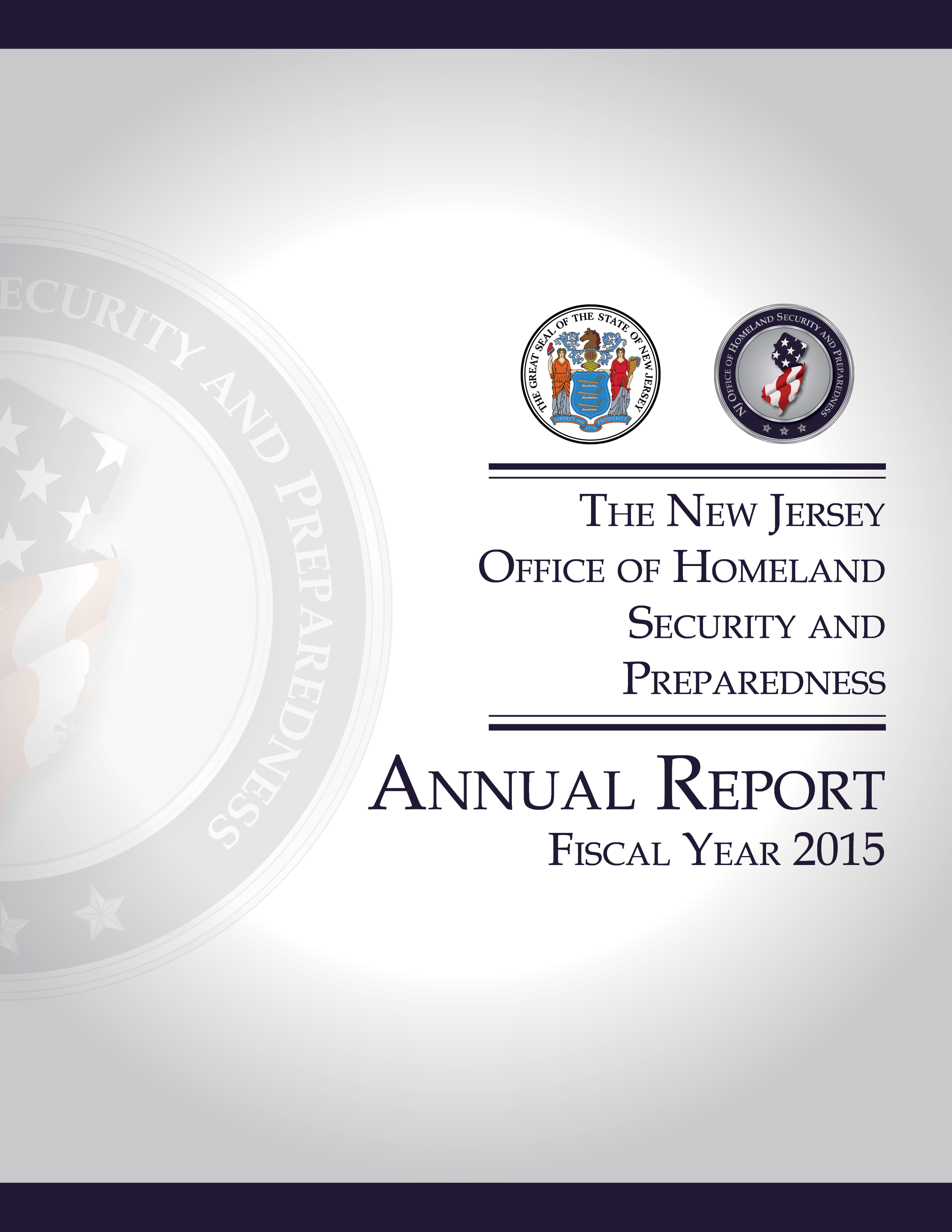 NJOHSP Annual Report Fiscal Year 2015 Cover.png