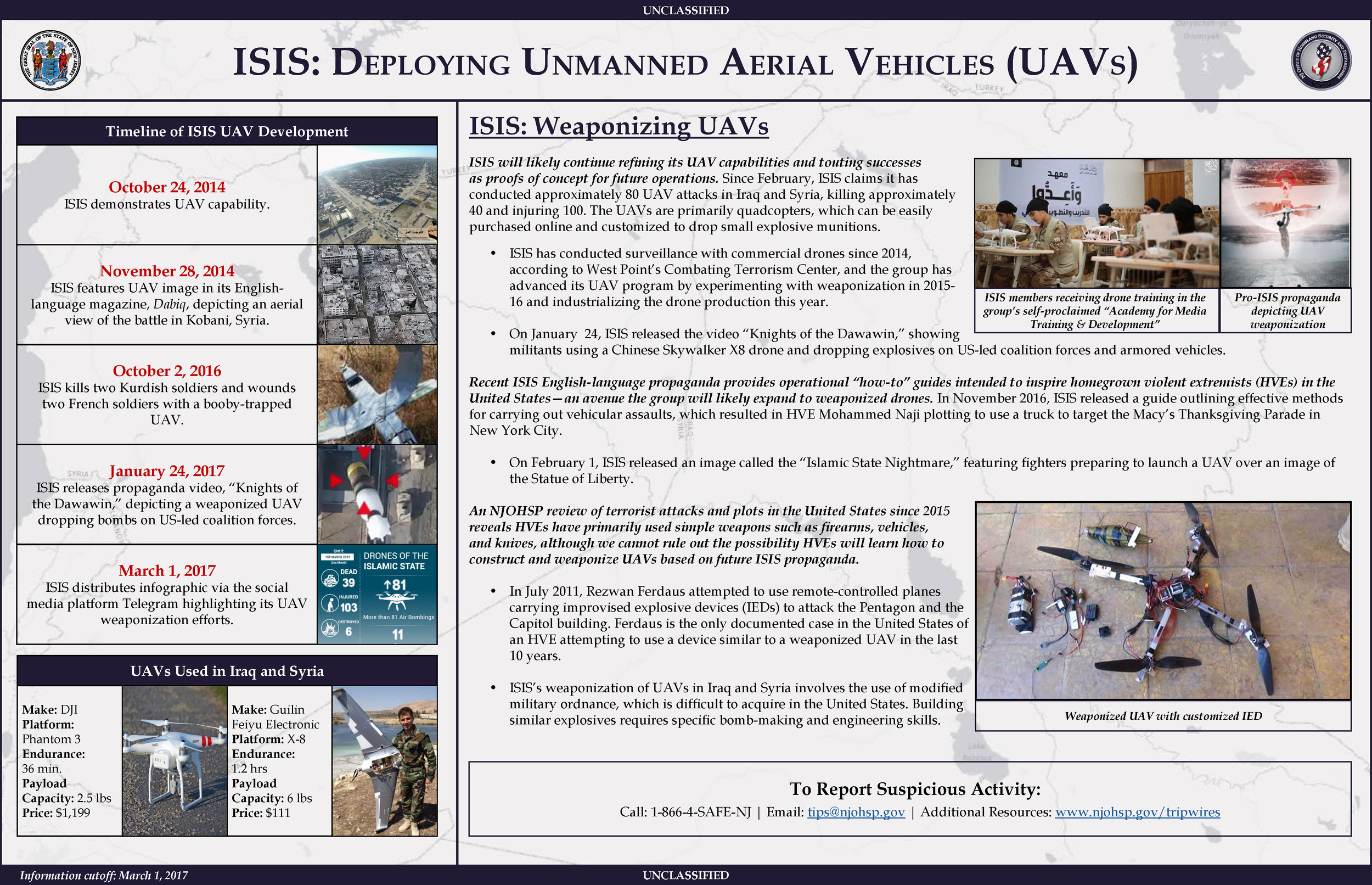 ISIS: Deploying Unmanned Aerial Vehicles (UAVs)