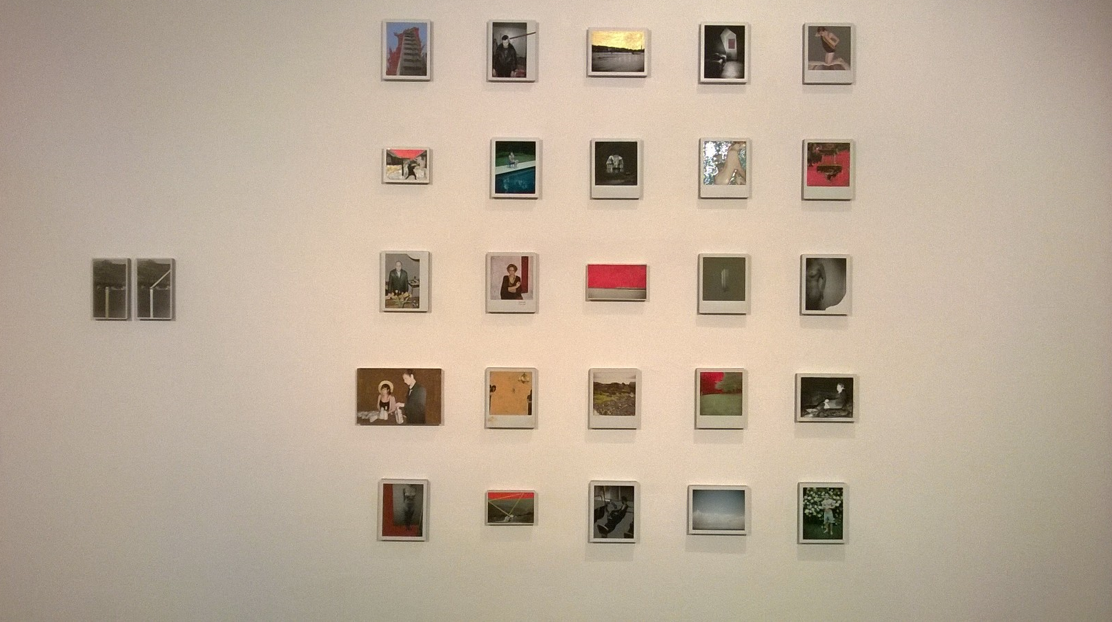 Justin Davis Anderson, 2012-15, Painted polaroid photography installation