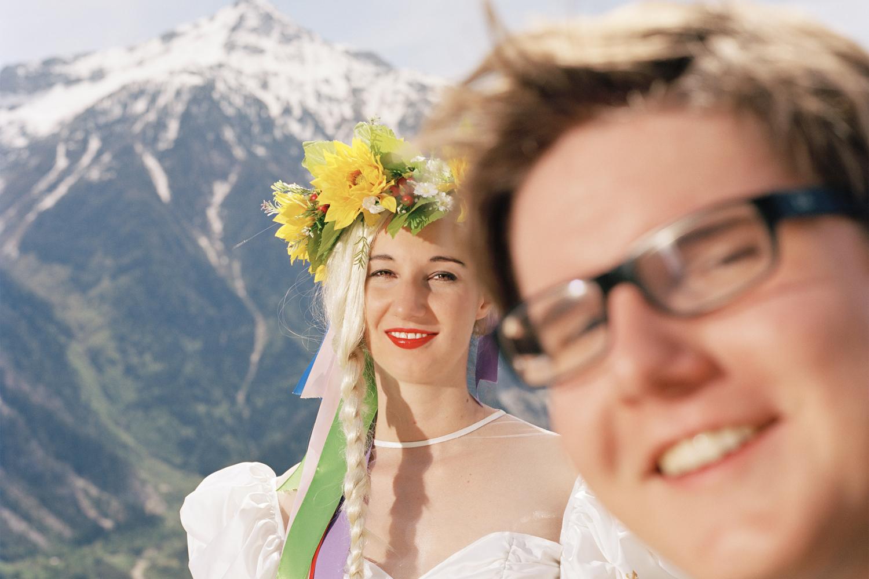 Romain Mader, Ekaterina: Marriage in Leukerbad, 2012, Photograph, print on aluminium.