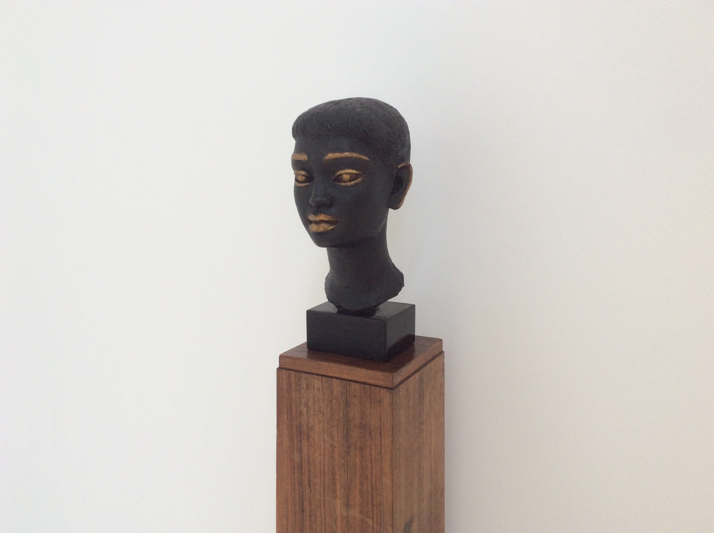Dora Gordine, Black Orchid, 1956, Bronze sculpture on original plinth.