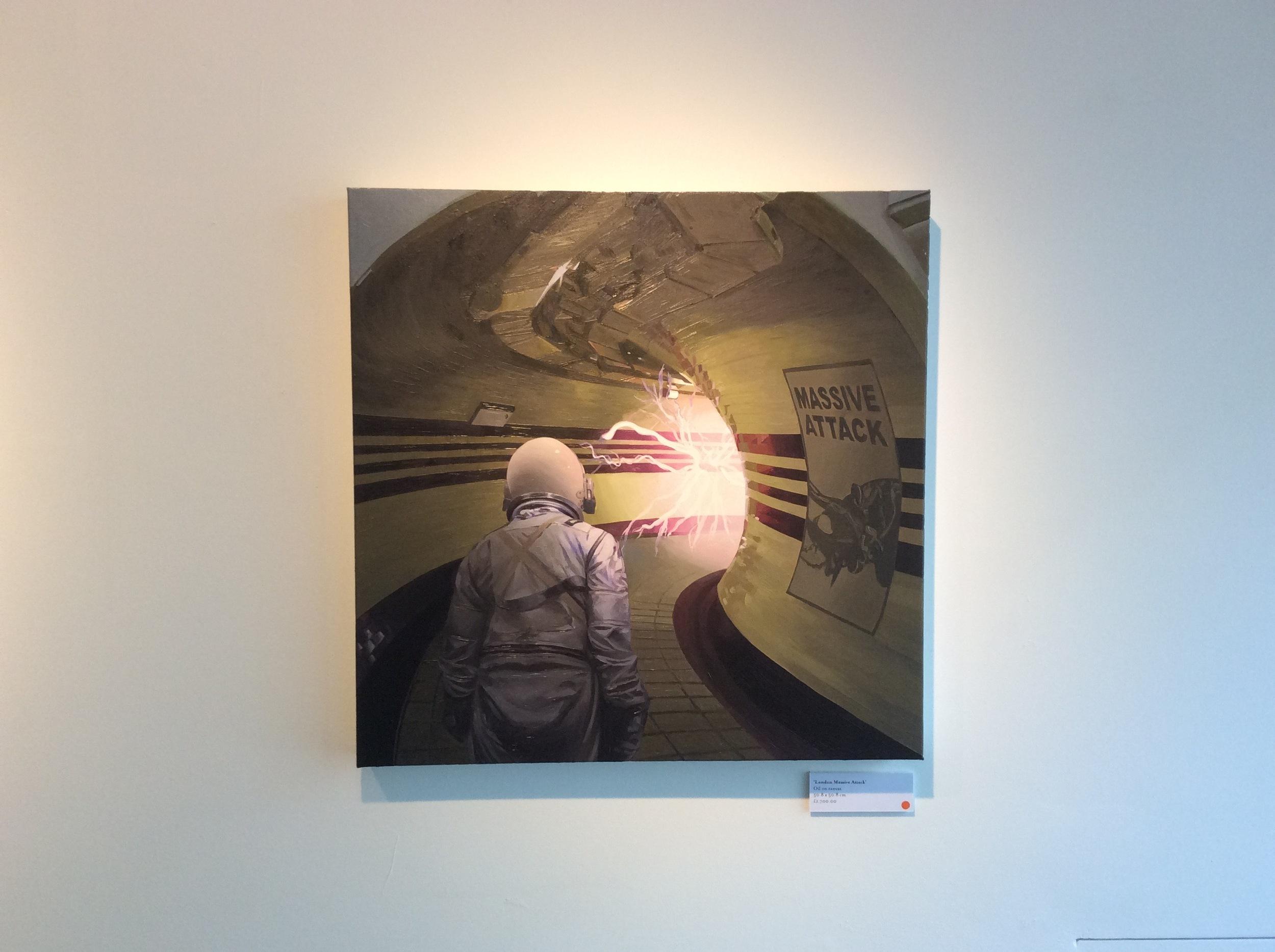Scott Listfield, London Massive Attack,  c.2016, Oil on canvas.