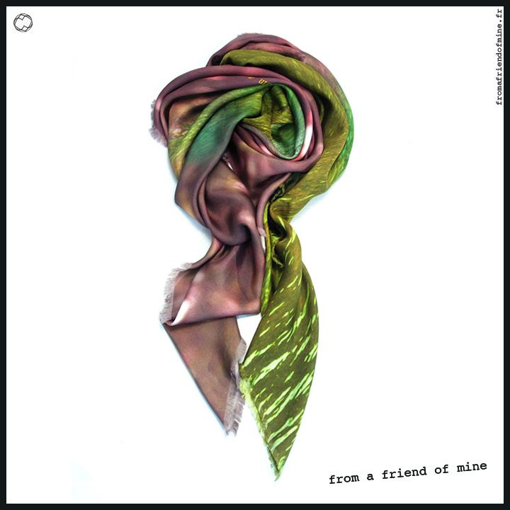 scarf indulgence / silk twill / from a friend of mine