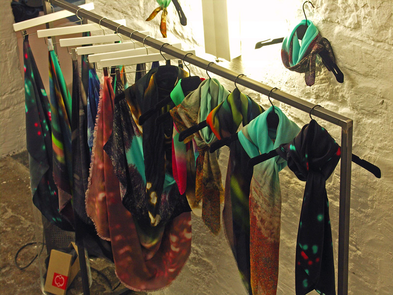 scarves from a friend of mine at showroom by boon paris